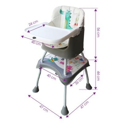 1016 - Ghế ăn đa năng 3 trong 1 Mastela 1016: ghế ăn thấp, ghế ăn cao, bàn ghế ngồi vẽ cho bé