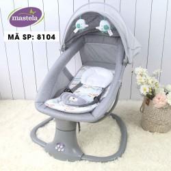 Nôi ru ngủ thư giãn kết hợp ghế ngồi đọc sách cho bé Mastela 8104 - trắng xám