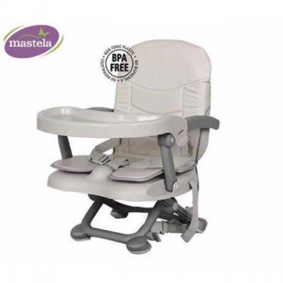 Ghế ăn du lịch điều chỉnh độ cao có nệm Mastela 1013-A (Ghi)