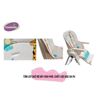 Ghế ngồi ăn dặm cao Mastela MSTL-1015-PUPRIN-T3 màu hồng hình hươu cao cổ