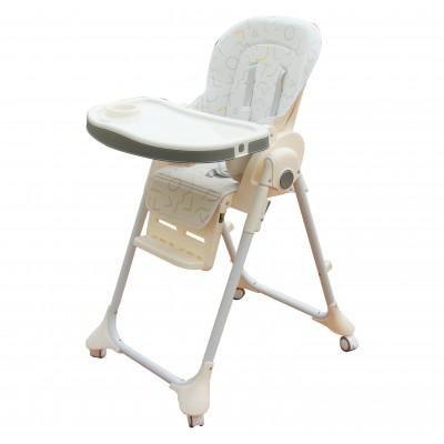 Ghế ngồi ăn cao Mastela 1015 (màu trắng họa tiết)