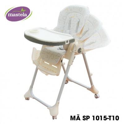 Ghế ngồi ăn dặm cao Mastela MSTL-1015-PUPRIN-T10 màu trắng họa tiết