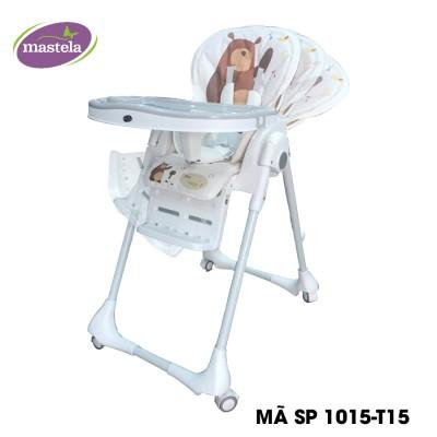 Ghế ngồi ăn dặm cao Mastela 0619-MSTL-1015-T15 màu trắng hình gấu