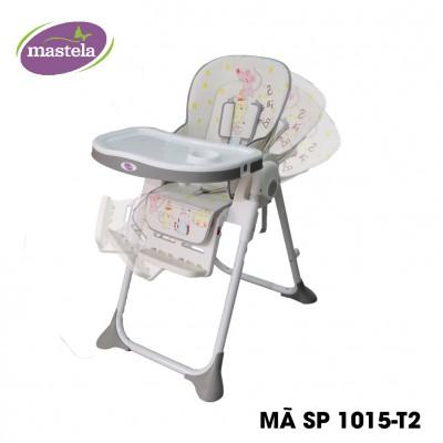 Ghế ngồi ăn dặm cao Mastela MSTL-1015-PUPRIN-T2 màu xám hình mèo chuột