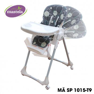 Ghế ngồi ăn dặm cao Mastela MSTL-1015-PUPRIN-T9 màu ghi đậm hình tròn